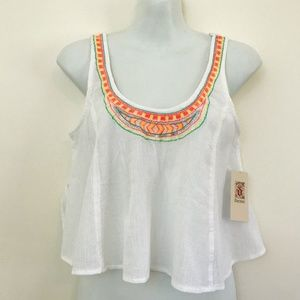 Decree white Aztec Pattern Crop Top